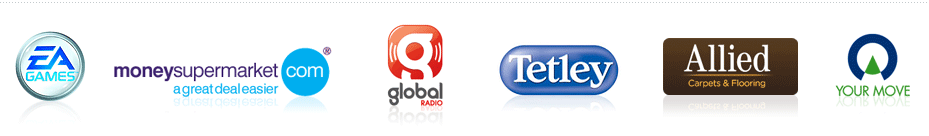 Electronic Arts, Tetley, Allied Carpets, Moneysupermarket.com, Global Radio, Your Move
